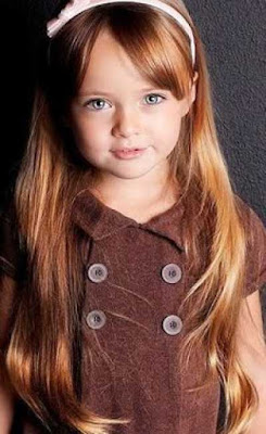 Model rambut layer panjang untuk anak-anak 2569874