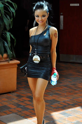 Tila Tequila In Skin Tight Black Clothes