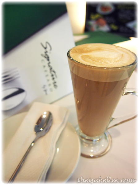 Hazelnut Cafe Latte at Signature Cafearo