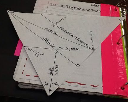 triangle foldable/special segments
