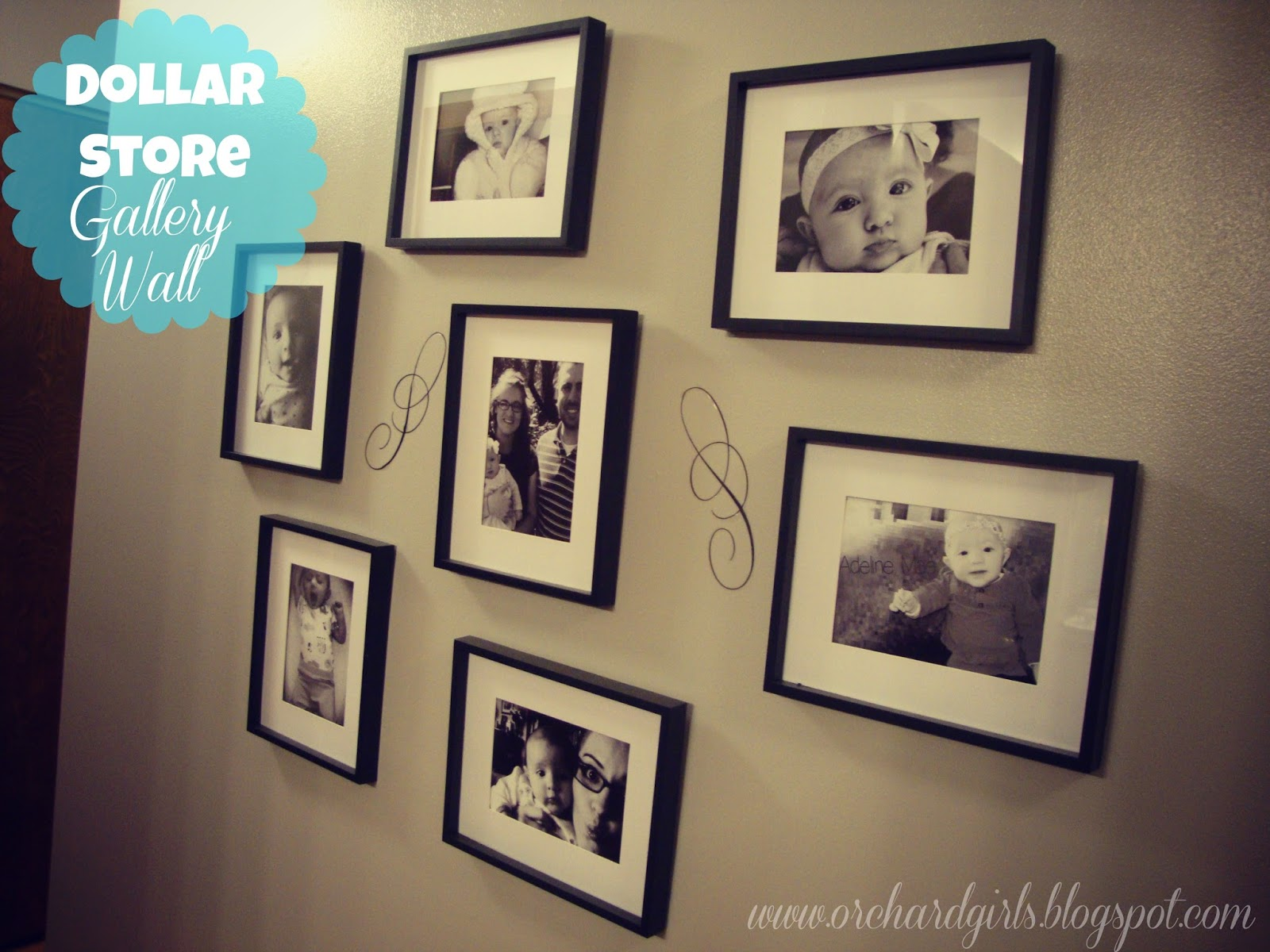 Orchard Girls: Thrifty Thursday: Dollar Store Gallery Walls