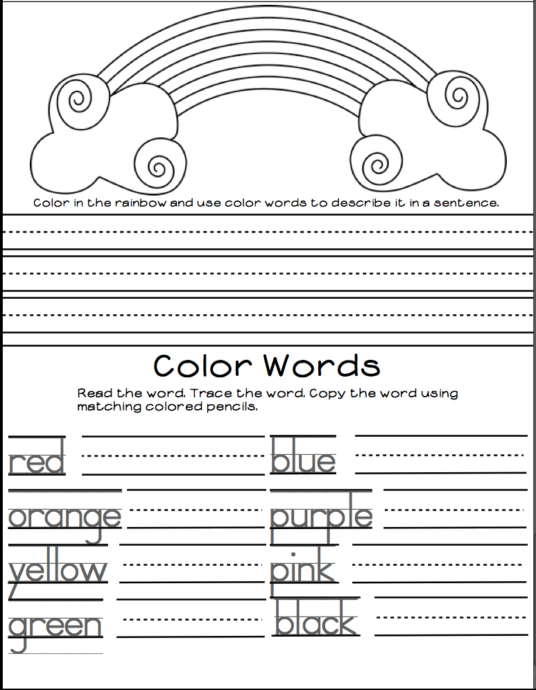 http://www.teacherspayteachers.com/Product/Kindergarten-Colors-Emergent-Reader-1067273