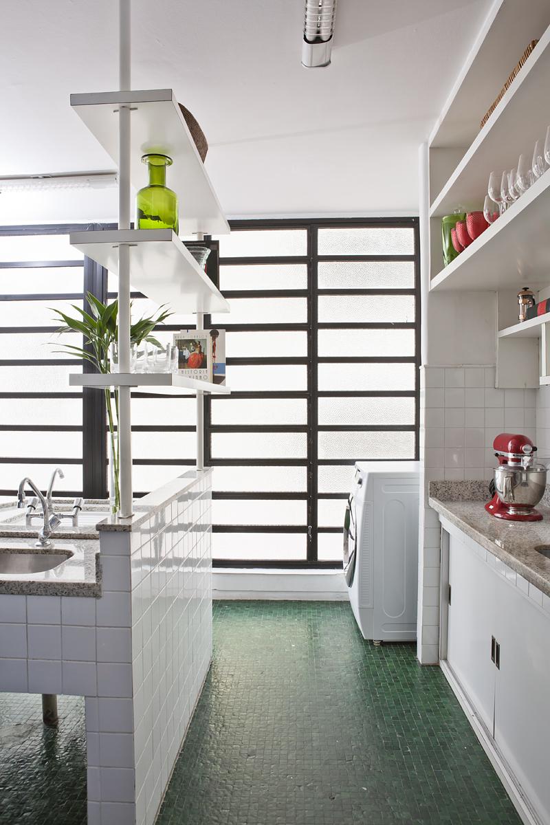 decoracao cozinha e area de servico integradas:AMC – Arquitetura: Cozinha integrada com área de serviço