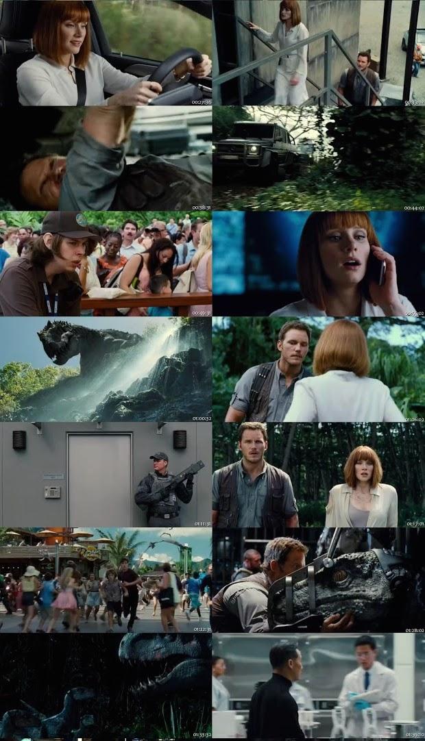 Jurassic World 2015 Dual Audio Hindi 480p HDRip ESub