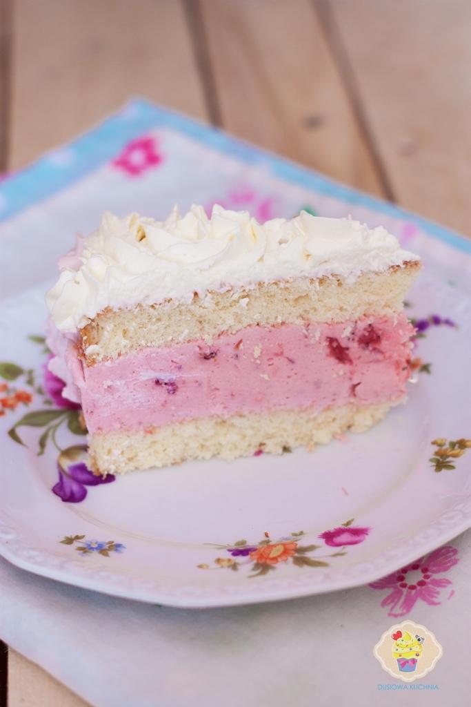 tort ombre, tort z różami