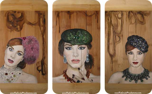 bamboo art, bamboo painting, portrait artist, portrait painting, christina hendricks art