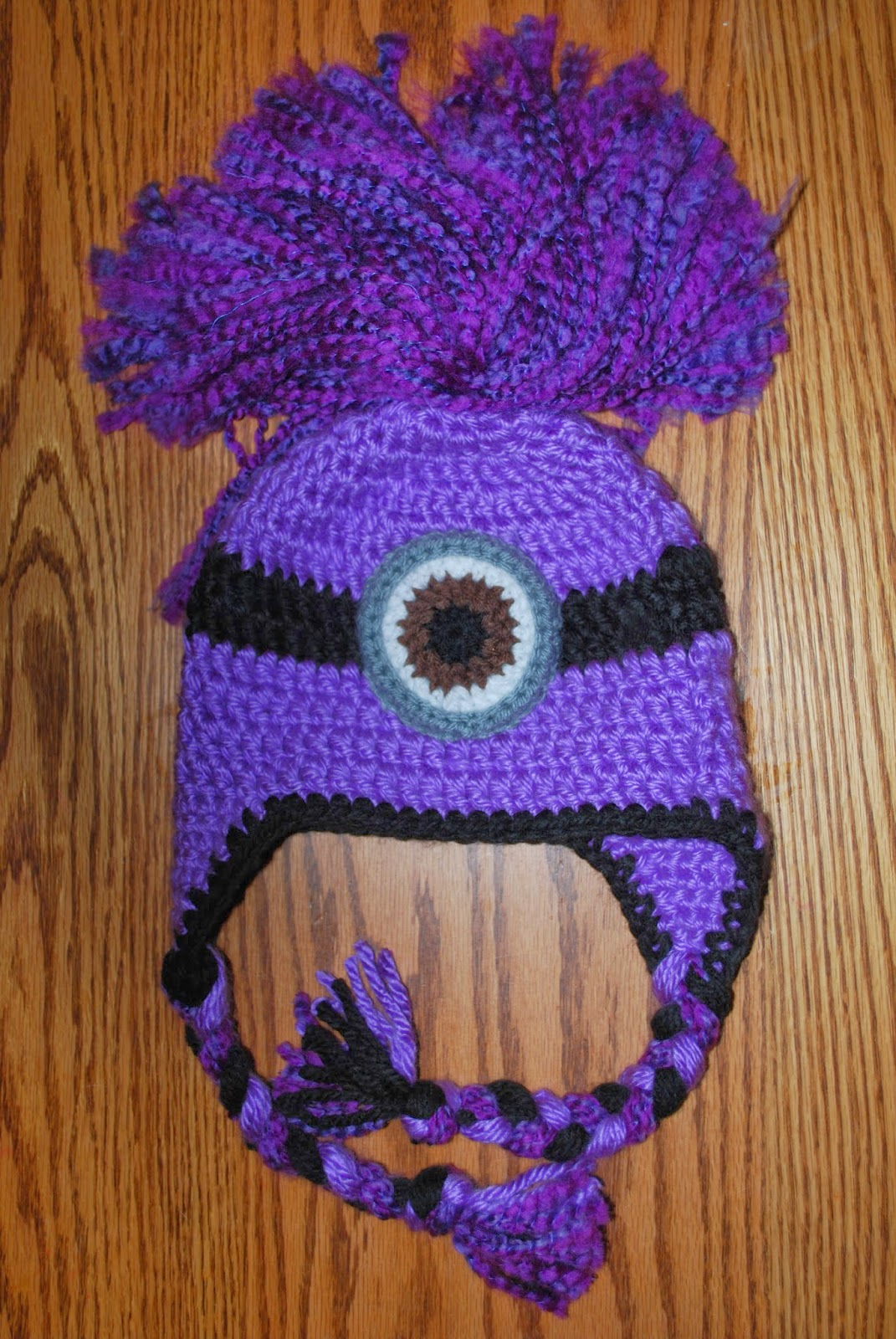 Hand Me Down Hobby: Evil Minion Ear Flap Hat