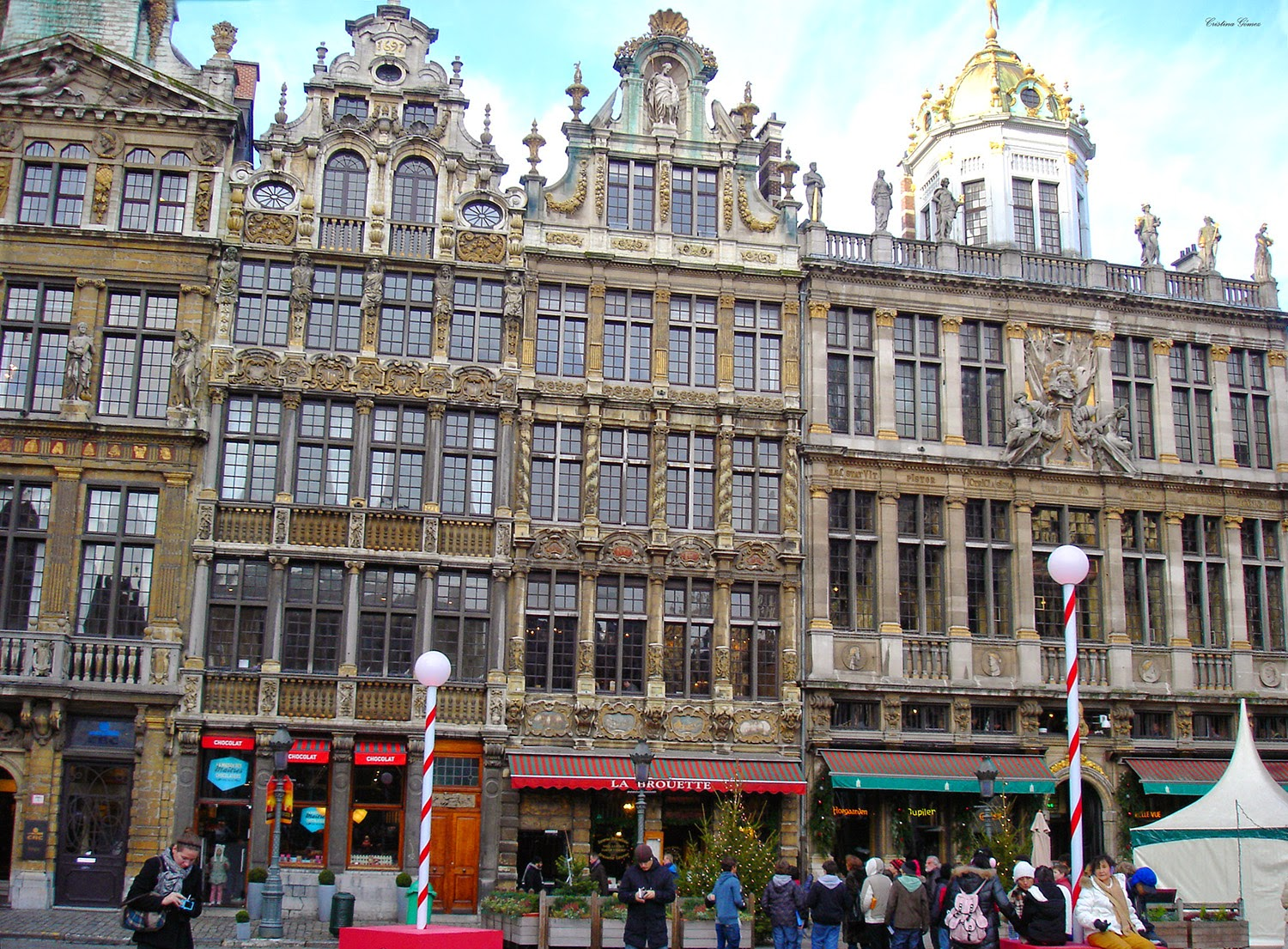 Christmas decorations in Brussels