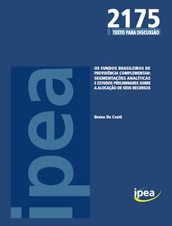 Publicação IPEA Nº2175: Os fundos brasileiros de previdência Complementar