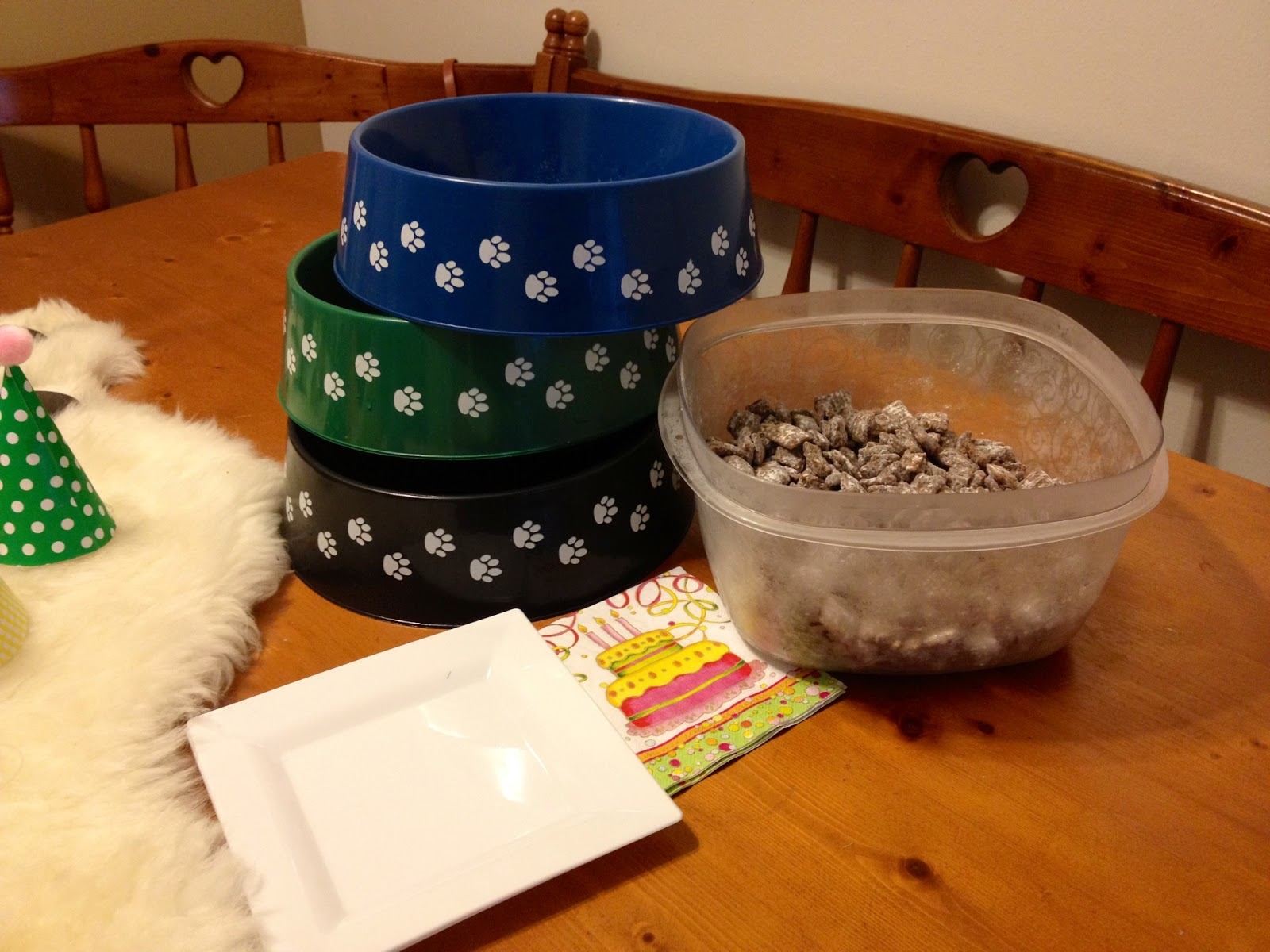 Daydreamer creator diy extraordinaire dog birthday party for Plastic dog bowls for party