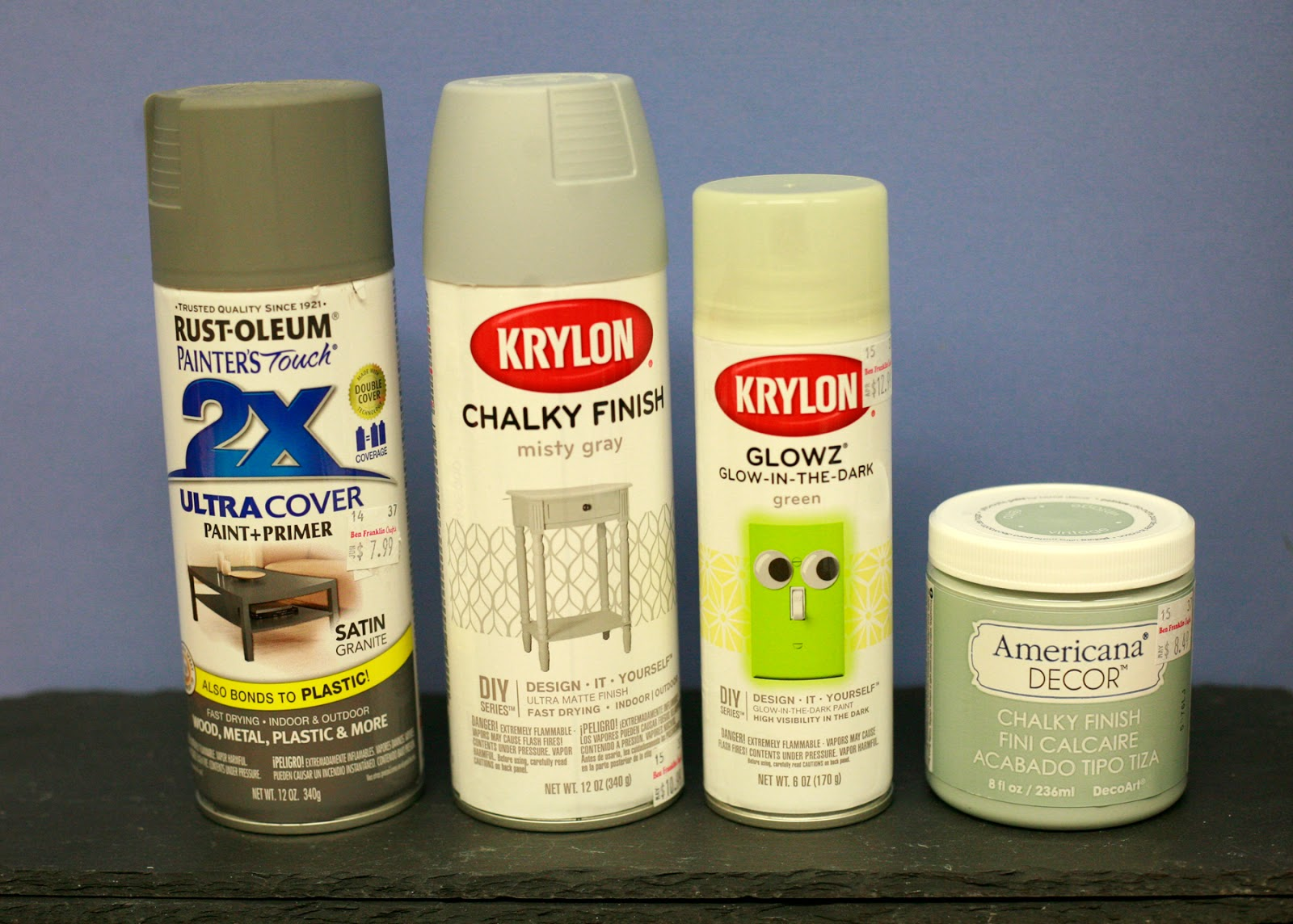 krylon chalky finish spray paint krylon glow in the dark. Black Bedroom Furniture Sets. Home Design Ideas