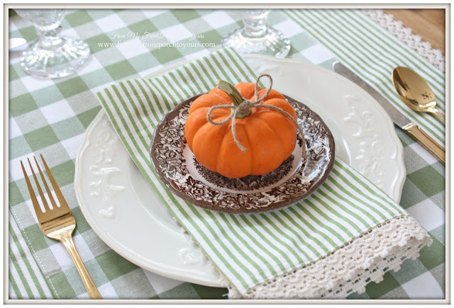 Brown Transferware-Farmhouse Style- Fall Kitchen--From My Front Porch To Yours