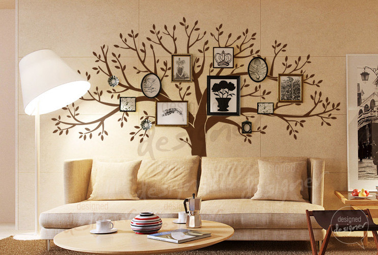 Wonderful living room wall stickers home decor - Wall sticker ideas for living room ...