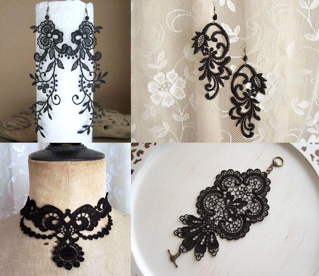 Mariages r tro etsy les bijoux en dentelle stitch from the heart - Accessoires gothiques ...