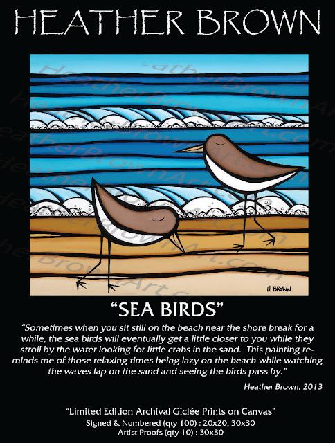 surf artist, pretty birds, ocean, waves, hawaii surf