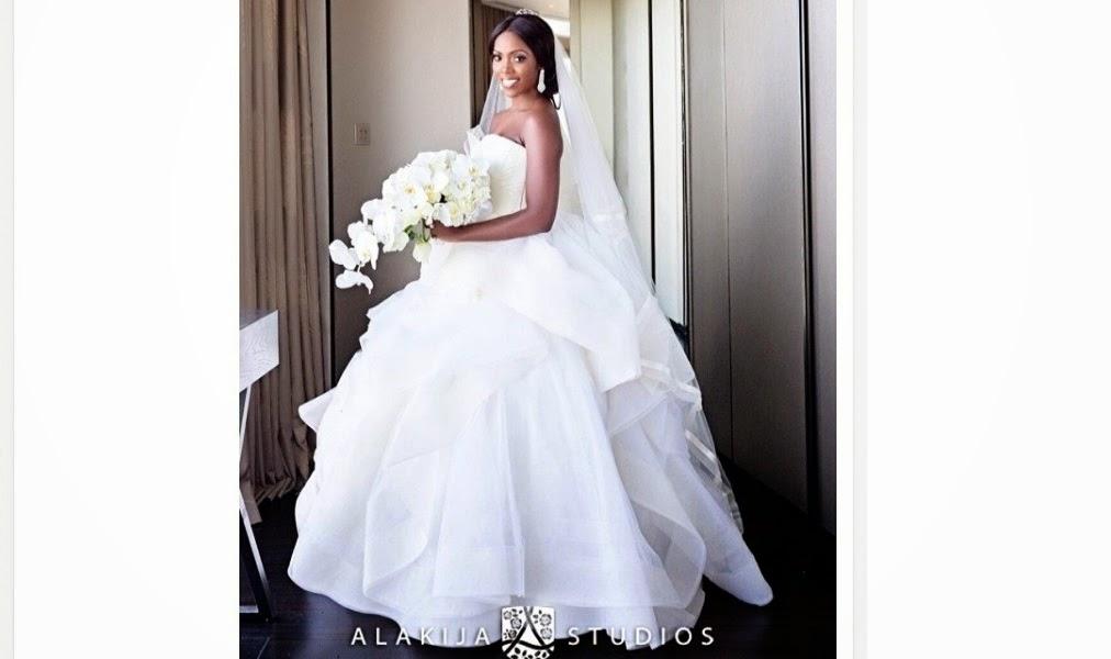 Image result for tiwa savage & teebillz wedding photos