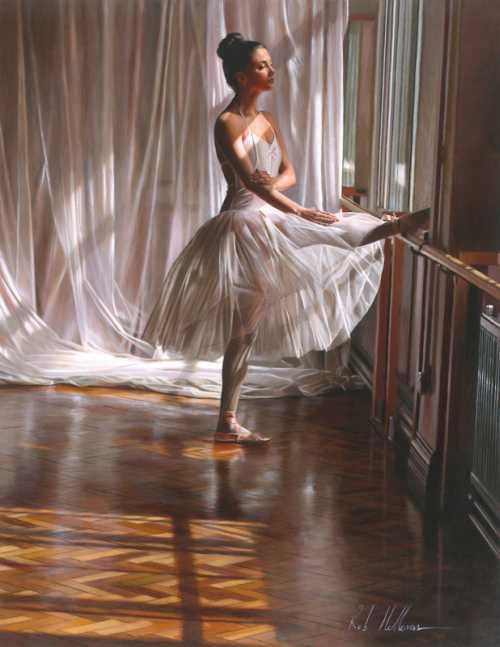 rob hefferan pinturas hiper realistas mulheres dançarinas bailarinas vestidos tutu
