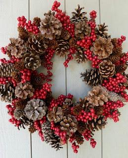 Coronas de Navidad con Materiales Naturales Secos, I Parte