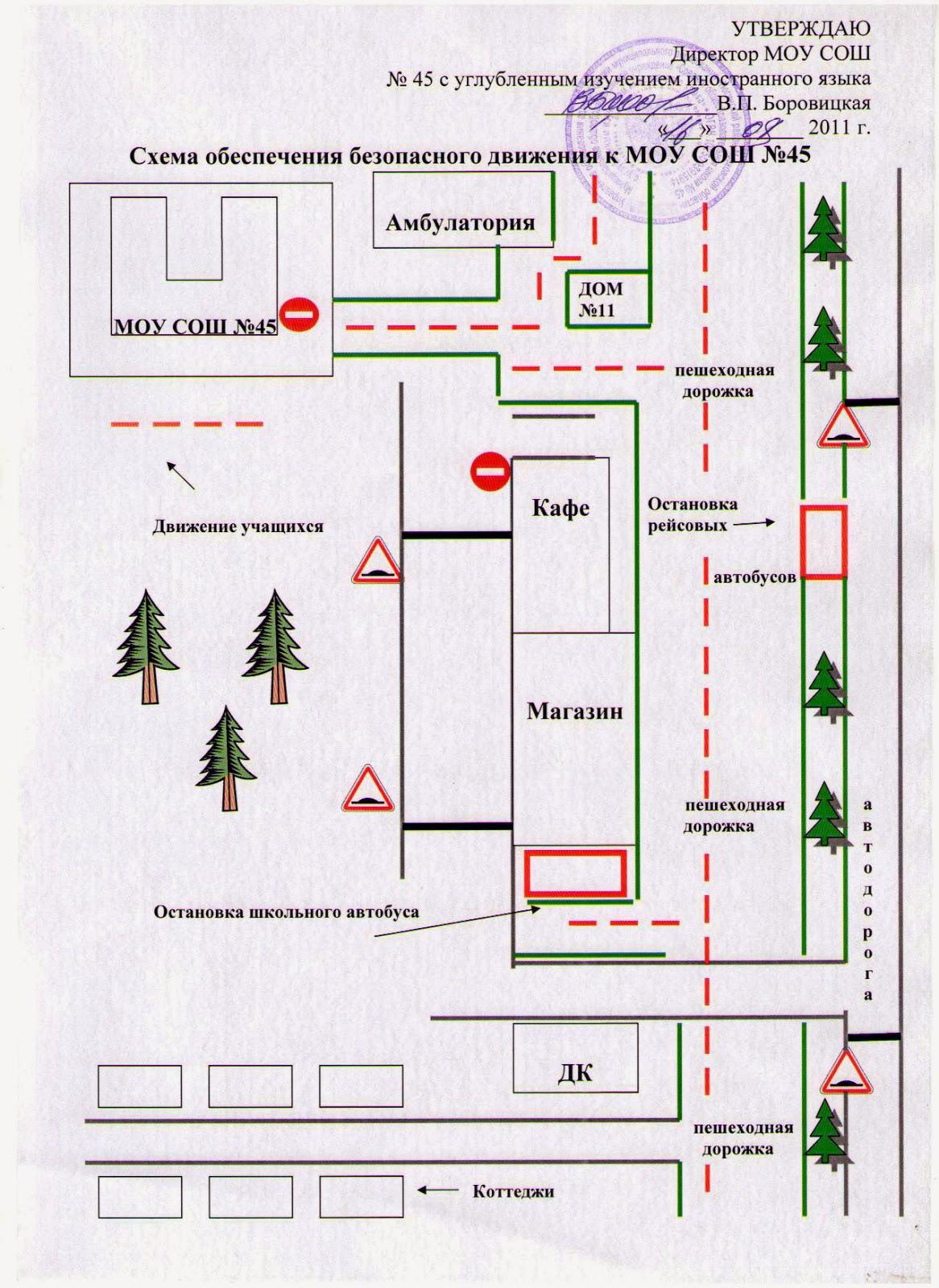 Рисунок схема маршрута