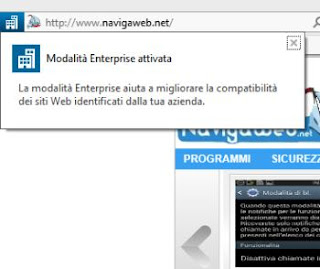 Modalità Enterprise Internet Explorer 11