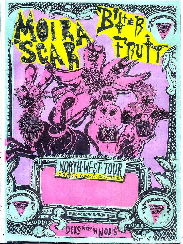 Scar Fruit Tour Poster by Jack Bradley.
