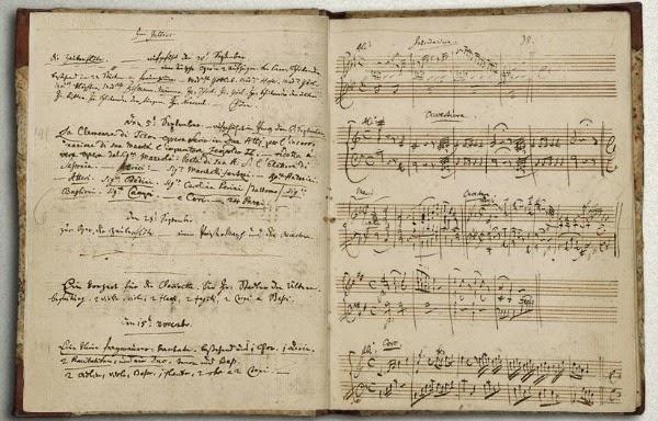 Motsartın 9-cu simfoniyasının əlyazmaları