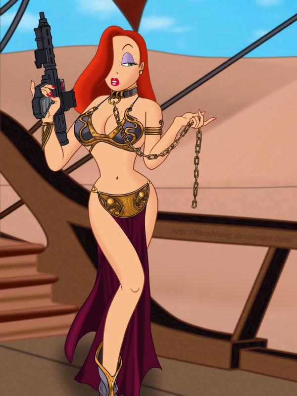 Jessica Rabbit como la Princesa Leia