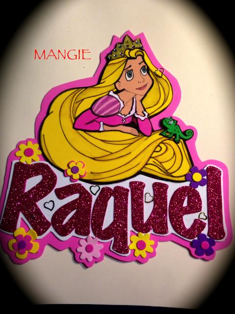 Letrero en goma eva de Rapunzel