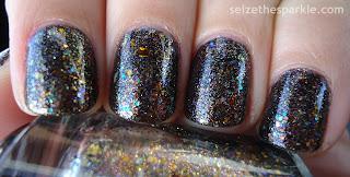 Black Layering Manicure