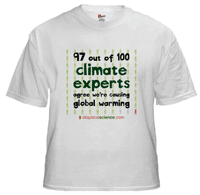 T-Shirt: 97% of climate experts agree we're causing global warming