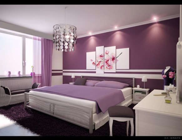 liv luv design color palette gray and purple bedrooms