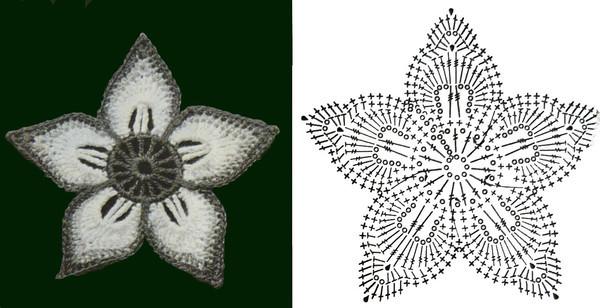Ирландское вязание цветок