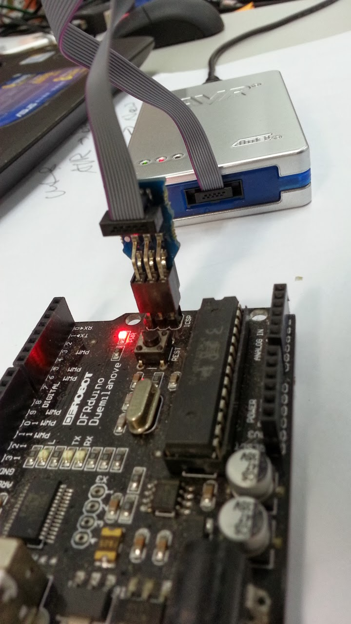 Using atmel jtagice to burn code into arduino