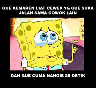 meme spongebob galau