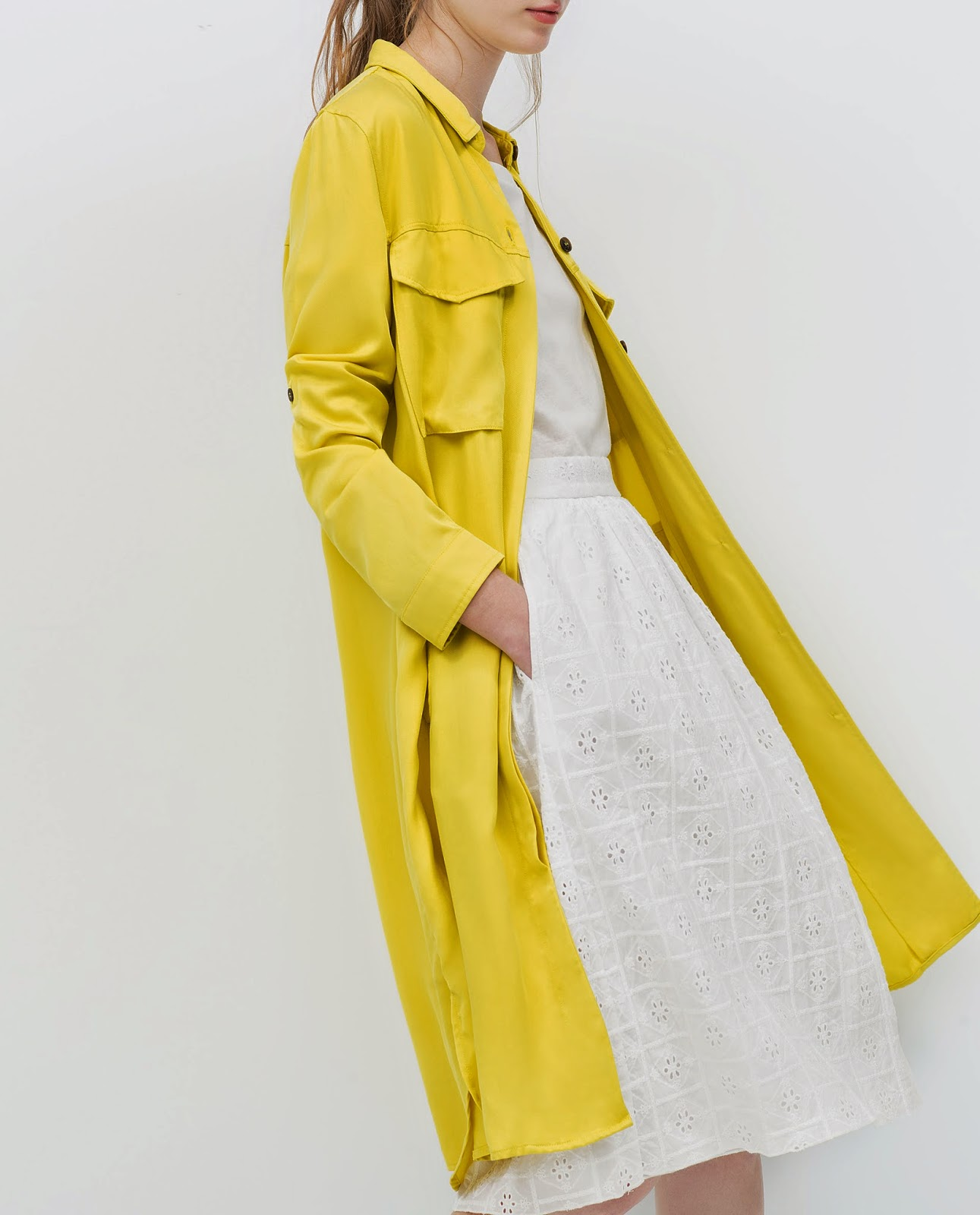 yellow zara jacket, yellow zara coat,