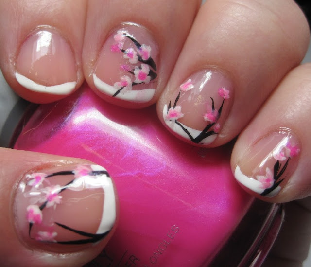 for this mani, the accent is the absence of nail art.