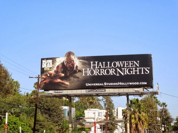 Halloween Horror Nights zombie billboard