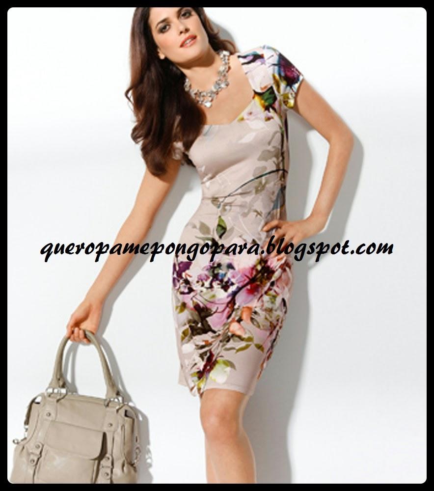 vestidos floreados para damas