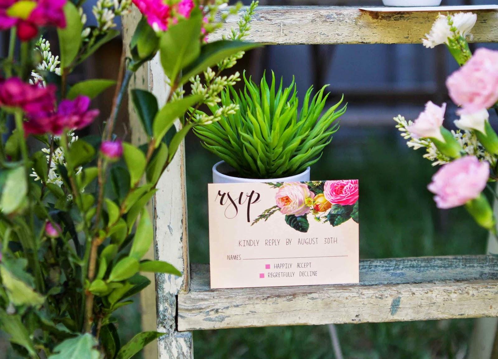 floral vintage wedding stationery melbourne sydney adelaide sail and swan