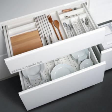 cubertero blanco cajon cocina