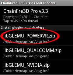 Android Chainfire 3D Tegra Plugin
