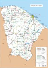 Mapa do Ceará(rodoviário)