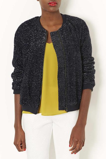 sparkly bomber jacket
