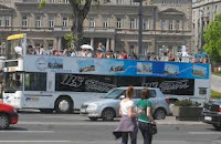 sightseeing bus in Belgrade