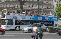 sightseeing bus in Belgrade