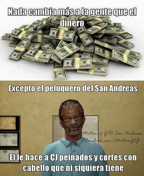Nada cambia mas a la gente que el dinero...