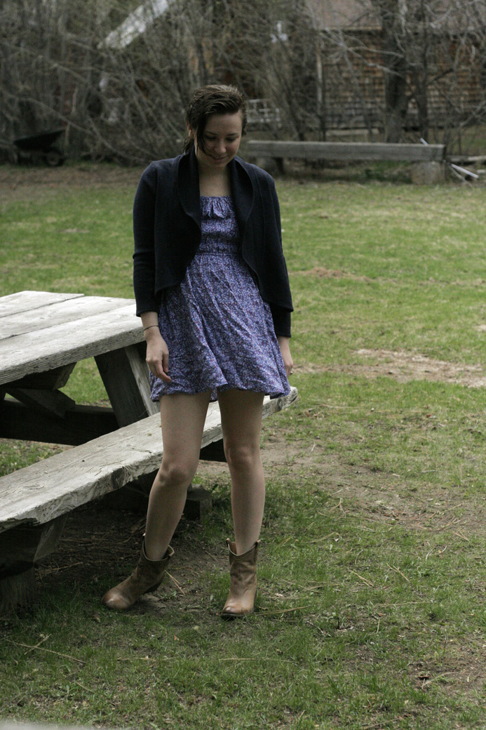 cowboy boots and dresses. Cowboy boots and dresses are