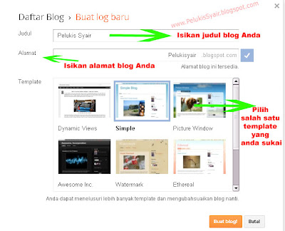judul, alamat, template, blog