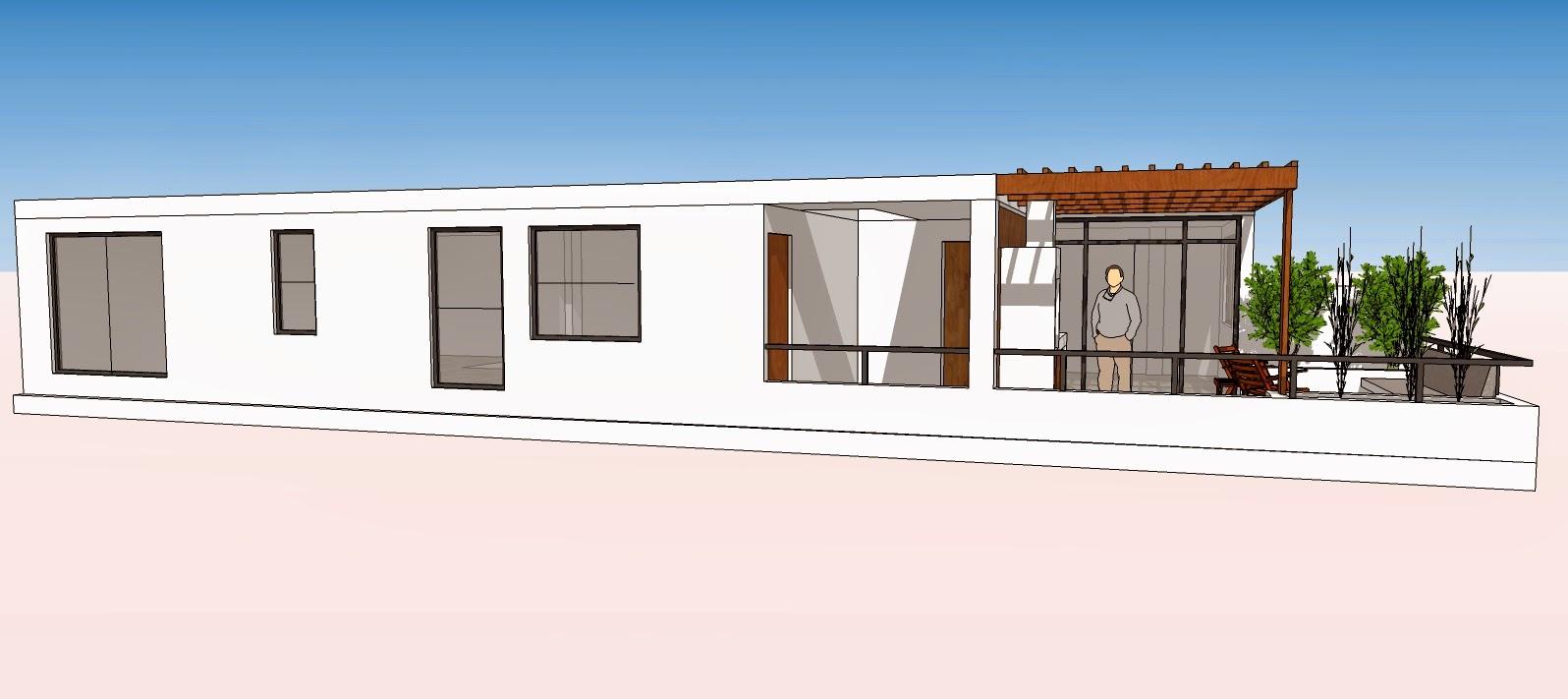 Oniria dise o previo terraza en departamento en tercer piso - Diseno terrazas exteriores viviendas ...