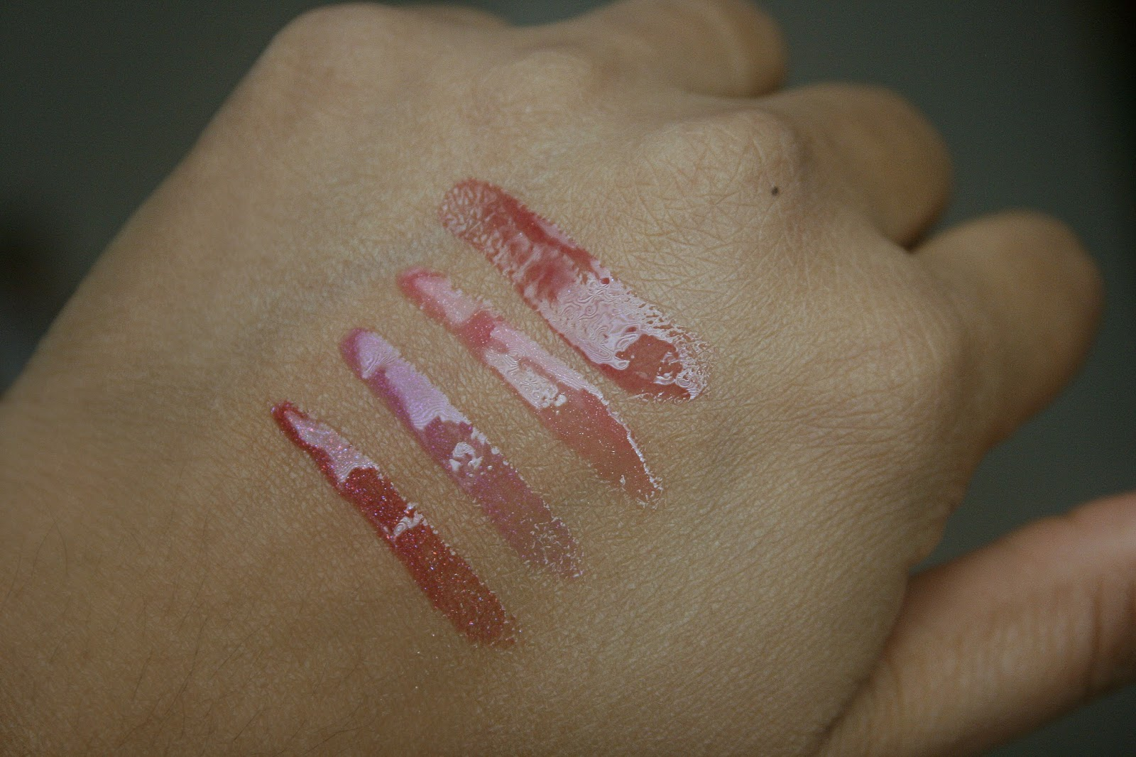 BUXOM Lipgloss Roulette Full On Lip Polish in Zoe, Jennifer, Julie, Isabella